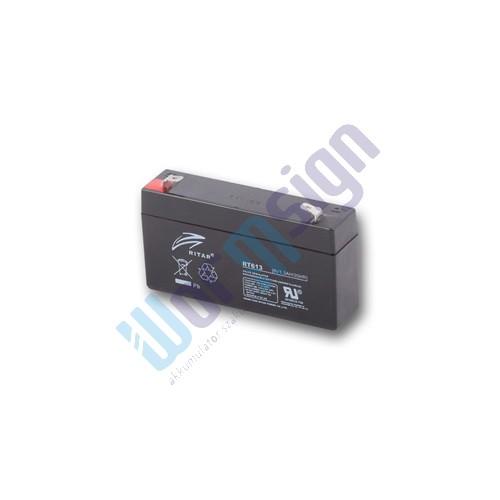 RItar RT613-F1 6V 1,3Ah zárt ólomakkumulátor