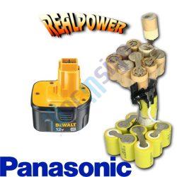 DE9075, DW9071, DW9072 fúróakku felújítás Ni-Mh 12 V Panasonic cellával