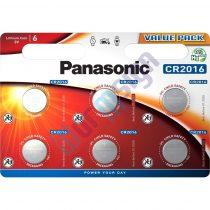 Panasonic CR2016L/6BP lítium gombelem (6 db / bliszter)
