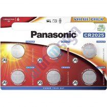 Panasonic CR2025L/6BP lítium gombelem (6 db / bliszter)