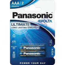 Panasonic EVOLTA AAA mikro 1.5V szupertartós alkáli elemcsomag LR03EGE-2BP