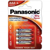 Panasonic Pro Power AAA mikro 1.5V szupertartós alkáli elemcsomag LR03PPG-4BP