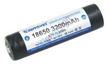 KeepPower NCR18650B 3200mAh védett Li-Ion akkumulátor cella