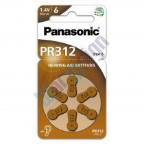 Panasonic PR312L/6LB cink-levegő elem, PR41 (6 db / bliszter)