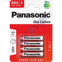 Panasonic Red Zinc AAA mikro 1.5V cink-mangán tartós elem 4db/csomag R03R