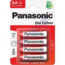 Panasonic Red Zinc AA ceruza 1.5V cink-mangán tartós elem 4b/csomag R6R