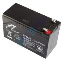 RItar RT1275-F2 12V 7,5Ah zárt ólomakkumulátor